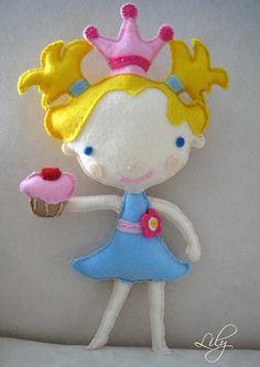 Felt Princess Doll