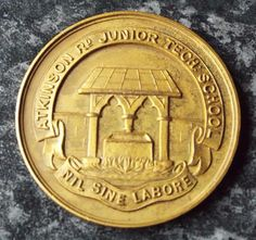 1934 Atkinson Road Junior Tech School Athletics Medal - Newcastle