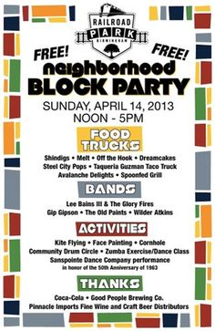 Railroad Park planning Neighborhood Block Party for April 14