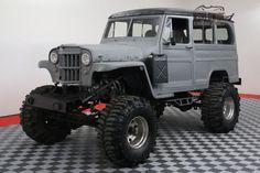 Blazer frame 1954 Willys Wagoneer custom truck for sale Jeep Pickup, Jeep Truck, 4x4 Trucks, Chevy Trucks, Willys Wagon, Jeep Willys, Rural Willys, Chevy Transmission, Custom Trucks For Sale