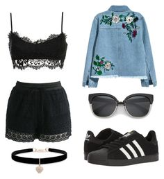 """""""Untitled #488"""" by dolrebeca ❤ liked on Polyvore featuring H&M, Chicwish, adidas and Betsey Johnson"""