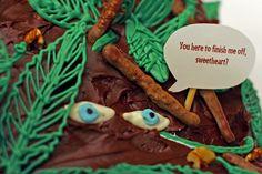 "I think this should be the next cake I make.... ""Here to finish me off sweetheart?""  Peeta Melark.  :)"