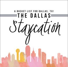 Why leave town to go on vacation when you could stay put and enjoy an epic staycation? ‪#‎DallasStaycation‬ ‪#‎Relaxation‬