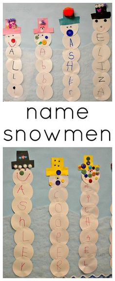 Most Popular Teaching Resources: Name Snowmen Winter Activity for Preschoolers - Fu...