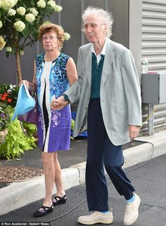 Out and about: Gene Wilder was recently spotted looking frail while heading to the US Open tennis tournament in New York with wife Karen Boyer