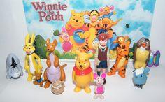 Disney Winnie the Pooh Figure Set of 12 with Pooh, Christopher Robin, Piglet Etc #Disney