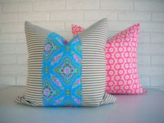 Colorful Decorative Pillow Cover  Pink and by habitationBoheme, $45.00