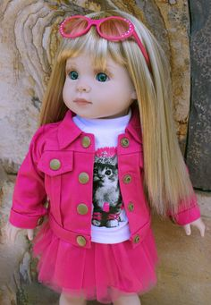 "HARMONY CLUB DOLLS 18"" Dolls and 18"" Doll Clothes. Fits the American Girl Doll www.harmonyclubdolls.com"