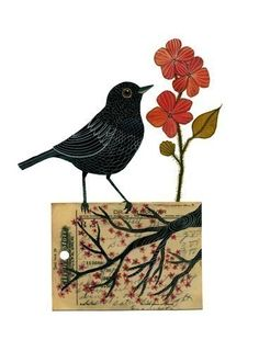 ... Bird No9 by Geninne on Etsy, $30.00