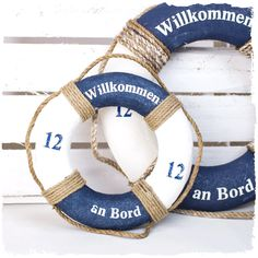 Vintage shabby RETTUNGSRING 20cm >> Happy Birthday Kind, Sailor Birthday, Light Well, Wall Mounted Mirror, Decoration Table, Plexus Products, Simple Designs, Nautical, Crafts