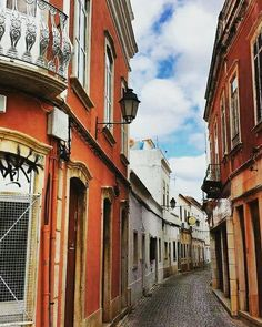 Loule, Portugal -a quaint city in the Algarve with narrow streets and…