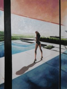 "Saatchi Online Artist: thomas saliot; Oil, Painting ""The Pool"""