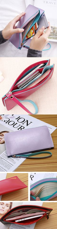US$8.66 Women Ultrathin Card Holder Wallets Purse Wristlet Wallet Purse Card Bag