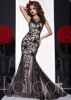 Panoply 14715 Lace Mermaid Gown