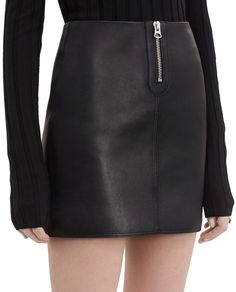 Franca, Black, 900x 002 Leather Mini Skirts, Leather Skirt, Flat Drawings, Acne Studios, Winter Outfits, Autumn, How To Wear, Clothes, Beauty