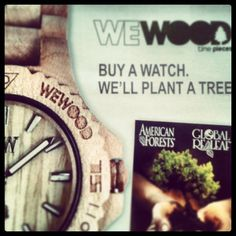 Buy a watch. We'll plant a tree.