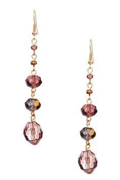 bead drop earrings <3