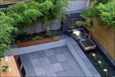 We should do a concrete platform using concrete tiles in the backyard.