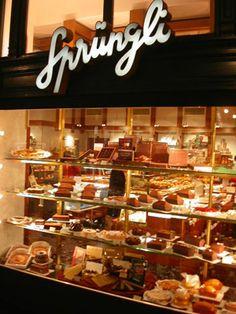 Sprungli Chocolates-Zurich. Love this place.