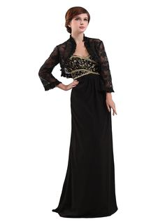Angel Formal Dresses Sweetheart Long Lace Jacket Chiffon Evening Dress -- To view further, visit now : Mother of the Bride