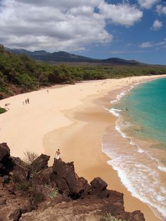 Makena, also known as big beach, the beach next to it is little beach and is a nude beach.  Just take the little trail at the top of the hill. #Maui