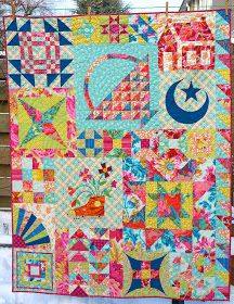 Between Stitches: first 2013 finish...  color the colors!  wow
