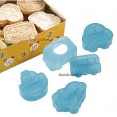 Japanese Bento Accessories Sandwich Cutter 4 designs Small - great for cheese, fruit roll ups, ... think!!