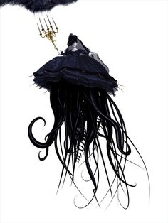 victorian lolita horror tentacle art by Ray Caesar