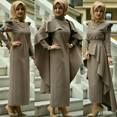 3 lü elbise Moslem Fashion, Niqab Fashion, Fashion Dresses, Hijab Dress Party, Hijab Style Dress, Muslim Gown, Cheap Short Prom Dresses, Official Dresses, Event Dresses