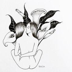 love myself 결국 나를 사랑하는 것은 나뿐 . . . #selflove#kiss#lily#narcissism#나르시시즘#백합