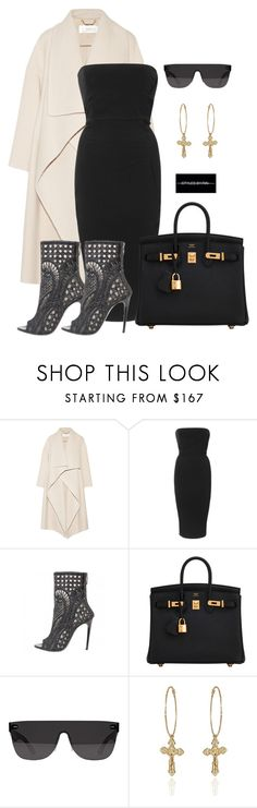 """""""Untitled #14"""" by styledbyrin ❤ liked on Polyvore featuring Chloé, Rick Owens, Balmain, Hermès and RetroSuperFuture"""