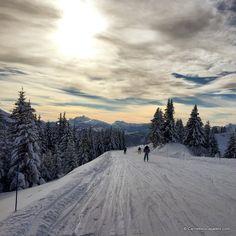 Coucher de soleil sur les pistes de ski de Morzine-Avoriaz