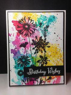 Wildflower Garden: Hero Arts, smooshing,  by beesmom - Cards and Paper Crafts at Splitcoaststampers