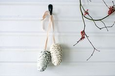 Wool and Silk Pine Cones from A Year Between Friends: 3191 Miles Apart, Crafts, Recipes, Letters, and Stories