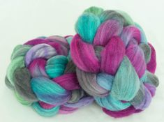 Excited to share the latest addition to my #etsy shop: Merino Humbug, Hand dyed tops, hand dyed roving, spindling, felting projects, fiber, Nuno felting, Handspinning, Fiber