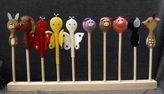 fakanál Wooden Spoons, Creative Crafts, Puppets, Baby Toys, Projects To Try, Handmade Baby, Preschool, Google, Educational Activities