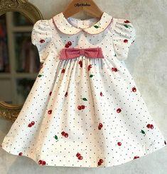 Frocks For Girls, Kids Frocks, Little Girl Dresses, Girls Dresses, Kids Dress Patterns, Baby Girl Dress Patterns, Baby Dress, Kids Winter Fashion, Kids Fashion