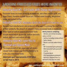 Why Processed Foods Created