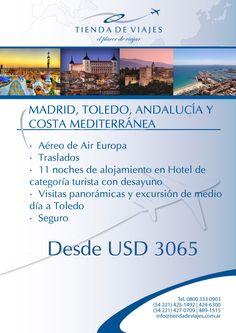#Spain #Mediterraneo Tarifas por persona en base doble expresadas en dólares. Sujetas a modificaciones. Consultar .