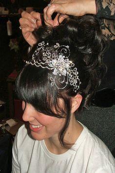 Swarovski Crystal Hair Piece/Tiara. $175.00, via Etsy.