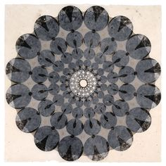 Mary Judge - Works on Paper Rose Window Series 96A ink on handmade paper edition variable 48 x 48 inches  2006