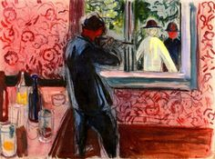 Uninvited Guests Edvard Munch - 1932-1935: Edward Munch, Canvas, Munch 1932