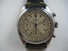 A VINTAGE ROLEX RARE STAINLESS STEEL CHRONOGRAPH REF.6234 DATES 1960 High End Watches, Vintage Rolex, Chronograph, Dates, Stainless Steel, Stuff To Buy, Accessories