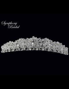 Dazzling Symphony Bridal 4930CR Crystal Wedding Tiara - Affordable Elegance Bridal -