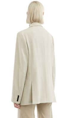 Acne Studios Wynn Li Str Natural Stretch linen suit jacket