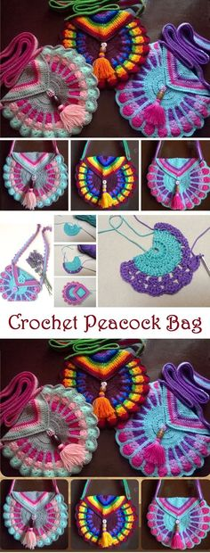 Crochet Peacock Bag Tutorial