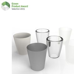 Carbon6 Water Glasses help families consider the interplay of materials, product function, and environmental sustainability with each sip of water, milk and tea. The set of six includes one each in aluminum, ceramic, polypropylene, polyethylene, primary glass and recycled glass. Each drinking vessel is designed to have exactly – and provocatively – the same environmental impact as its mates.