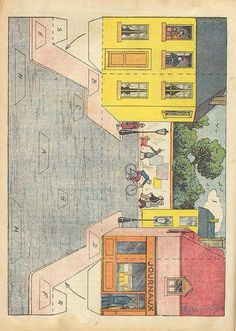 Vintage Paper Dolls - Browse all the pages for lots of vintage paper dolls and other stuff such as buildings and scenery cutouts.