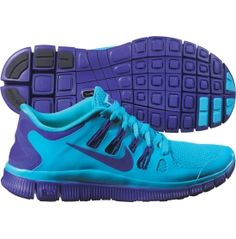 nike womens free 5.0+ running shoe gamma blue purple hair