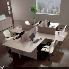 End tables-Multiple office workstation US | Office workstation - Castellani.it